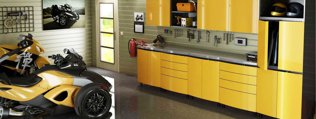 Custom Cabinets Horz 3 Yellow Fiberglass And Wood